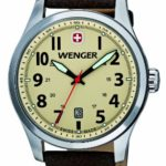 Wenger Herren-Armbanduhr XL Terragraph Analog Quarz Leder 01.0541.106 B008CDUA20