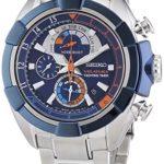 Seiko Herren-Armbanduhr XL Velatura Yachting Timer Chronograph Quarz Edelstahl SPC143P1 B00MCBFLBS