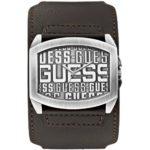 Guess Herren-Armbanduhr XL Analog Quarz Leder W0360G2 B00I9CMR3E