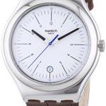 Swatch Herren-Armbanduhr XL Irony Big Classic Appia Analog Quarz Leder YWS401 B00JTVDBS4