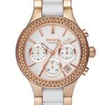 DKNY Damen-Armbanduhr Chronograph Quarz verschiedene Materialien NY8183 B004MRIAK4