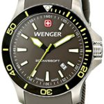 Wenger Herren-Armbanduhr XL SEAFORCE Analog Quarz Kautschuk 01.0641.110 B00JQG88AS
