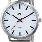 MC Timetrend Herren-Armbanduhr XL Bahnhofsuhr Analog Quarz Messing 27678 B00PUHM10A