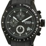 Fossil Herren-Armbanduhr Chronograph Edelstahl schwarz Sport Gents CH2601 B0035KKR82