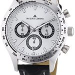 Jacques Lemans Herren-Armbanduhr XL Capri Chronograph Quarz Leder 1-1329B B00GUJROH2