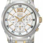 Seiko Mens Premier Chronograph White Dial Bracelet Watch – SPC058P1 B0040MIDVM