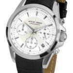 Jacques Lemans Damen-Armbanduhr XS Chronograph Quarz Leder 1-1752C B00BAP3OES