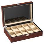 DeTomaso Trend Uhrenbox Mahagoni braun für 10 Uhren W-053-B B001C9W3J4