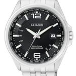 Citizen Herren-Armbanduhr XL Funkuhren Analog Quarz Edelstahl CB0010-88E B00NQ0LEII