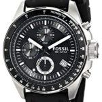 Fossil Herren-Armbanduhr Sport Chronograph Kautschuk schwarz CH2573 B00248GSY8