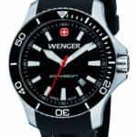 Wenger Herren-Armbanduhr XL Seaforce Analog Quarz Silikon 01.0641.103 B008GLUZXM
