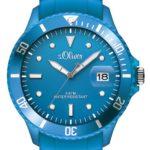 s.Oliver Herren-Armbanduhr XL Analog Quarz Silikon SO-2679-PQ B00BKVYX24