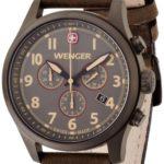 Wenger Herren-Armbanduhr XL Terragraph Chronograph Quarz Leder 01.5431.103 B00BV6Q8E4