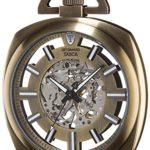 Detomaso Herren-Armbanduhr TASCA Skeleton Taschenuhr XXL Classic Analog Handaufzug DT2059-C B00RBO11RE