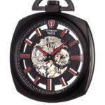 Detomaso Taschenuhr  TASCA Skeleton Pocket Watch Black Analog Handaufzug DT2050-A B00IO1RAQO