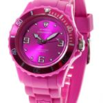 DeTomaso  Damen-Armbanduhr COLORATO Purple Analog Quarz Silikon DT3007-J B007RW88EY