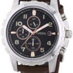 Fossil Herren-Armbanduhr XL Dean Chronograph Quarz Leder FS4828 B00IR9SNRI