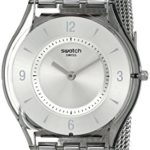Swatch Damen-Armbanduhr XS Metal Knit Analog Quarz Edelstahl SFM118M B004I1KJOO