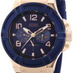 Guess Herren-Armbanduhr XL Analog Quarz Silikon W0247G3 B00E5XK81Y