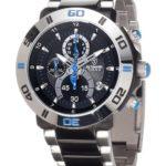 Detomaso Herren-Armbanduhr XL  TIAGO Blue DT2009-D Trend Chronograph Quarz Edelstahl DT2009-D B00ADEOLQW