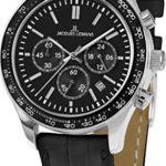 Jacques Lemans Unisex-Armbanduhr Rome Sports Analog Quarz Leder 1-1586ZA B00Q2ZDWB6