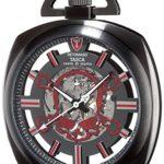 Detomaso Herren-Armbanduhr TASCA Skeleton Taschenuhr Skull Trend Analog Handaufzug DT2059-F B00RBO11K6