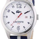 Lacoste Herren-Armbanduhr XL Auckland Analog Quarz Textil 2010722 B00I5PKDZY