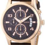 Guess Herren-Armbanduhr XL Chronograph Quarz Leder W0076G4 B00I9CMADQ