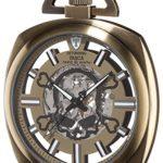 Detomaso Herren-Armbanduhr TASCA Skeleton Taschenuhr Skull Trend Analog Handaufzug DT2059-E B00RBO0WI8