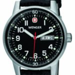 Wenger Herren-Armbanduhr XL Commando Day Date  Analog Quarz Leder 70164.XL B006MI3LDM