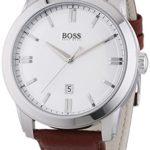Hugo Boss Herren-Armbanduhr XL HB-1004 Analog Quarz Leder 1513017 B00NMGR0ZM