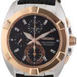 Seiko Damen-Armbanduhr Velatura Chronograph Quarz Leder SNDZ20P1 B003AP6I8K