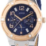 Guess Damen-Armbanduhr Leder Ladies Sport Analog Quarz W0289L1 B00FB7Q4UC