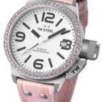 TW Steel Damen-Armbanduhr XL Canteen Style Analog Quarz Leder TW-36 B009DFT6FI