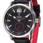 Detomaso Herren-Armbanduhr XL CERVINO SWISS MADE Silber Classic Analog Quarz Leder DT1060-C B00RBO2HMM