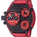Detomaso Herren-Armbanduhr WALZ Edition GRANDPRIX Red Trend Chronograph Quarz Leder DT-W1001-D B00QQDKC0I