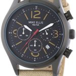 Mike Ellis New York Herren-Armbanduhr XL Desert Fox Chronograph Quarz Textil M2439B B00LM97HZE