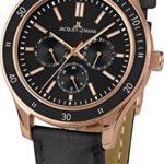 Jacques Lemans Unisex-Armbanduhr Rome Sports Analog Quarz Leder 1-1691ZE B00Q2ZDKWC