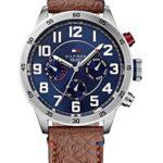 Tommy Hilfiger Watches Herren-Armbanduhr XL TRENT Analog Quarz Leder 1791066 B00MLYDJ10
