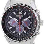 Seiko Herren-Armbanduhr XL Aviaton Solar Chronograph Quarz Edelstahl SSC261P1 B00MCB8R6O