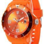 Detomaso Unisex-Armbanduhr COLORATO DATE Orange Trend Analog Quarz Silikon DT2028-F B00B15NK78