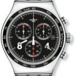 Swatch Herren-Armbanduhr XL Blackie Chronograph Quarz Edelstahl YVS401G B00DBR8A60