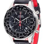Detomaso Herren-Armbanduhr XL FIRENZE XXL Silver/Black Classic Chronograph Quarz Leder DT1045-A B00QGXJ0LA