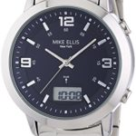 Mike Ellis New York Herren-Armbanduhr XL Analog – Digital Quarz Edelstahl SL4-60219 B00LNB0XM0