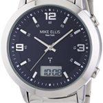 Mike Ellis New York Herren-Armbanduhr XL Analog – Digital Quarz Edelstahl SL4-60219 B00LNB0XM0