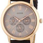 Guess Herren-Armbanduhr XL Analog Quarz Leder W0496G1 B00LSYQKMY