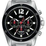 Lacoste Herren-Armbanduhr XL Analog Quarz Edelstahl 2010644 B009USENH4