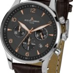 Jacques Lemans Herren-Armbanduhr XL London Chronograph Quarz Leder 1-1654F B00GN9PI40