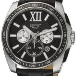 Esprit Herren-Armbanduhr XL Meridian Chronograph Quarz Leder ES103591001 B00ISTWA30