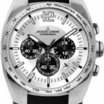Jacques Lemans Herren-Armbanduhr XL Sport Chronograph Quarz Leder 1-1688B B006BLKA5W
